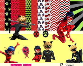 Kit Digital LadyBug - Miraculous