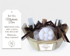 gift madrinhas - kit spa Diva