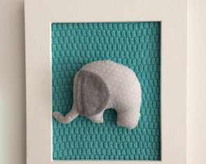 (DA 0074)(DO 0111) Quadro decor elefante