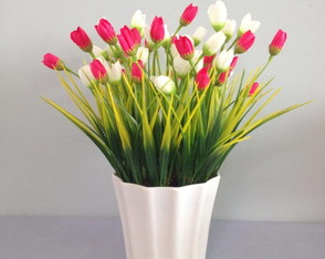 Arranjo Tulipa Rosa Pink Artificial