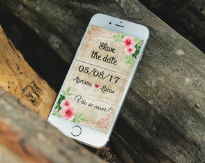 Arte digital: Save the Date para celular