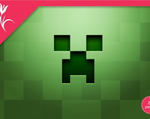 Painel Minecraft 2,5x1,5m