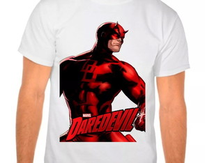 Camiseta Branca Demolidor Marvel
