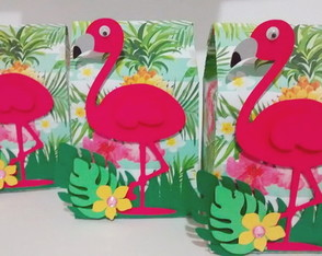 Caixa Flamingo Tropical 2