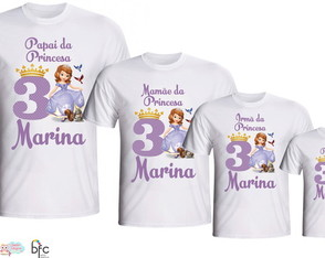 Kit Camisetas 4 Un - Princesa Sofia