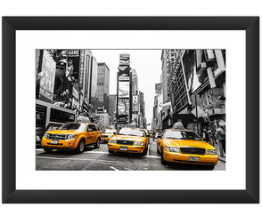 Quadro Nova York Taxi Decoracao Tendecia