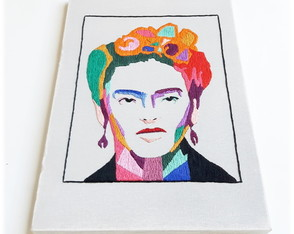Canvas Abstract Frida Kahlo Portrait