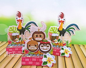 Porta mini chocolate duplo Moana