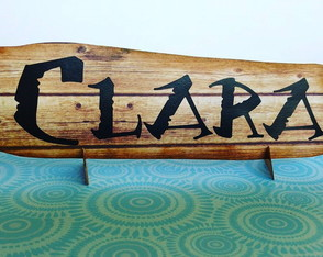 TROPICAL-SURF-MOANA [placa com nome [display de mesa]