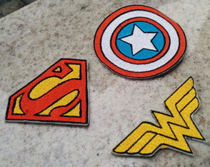 Patch Bordado Termocolante SUPER HEROIS