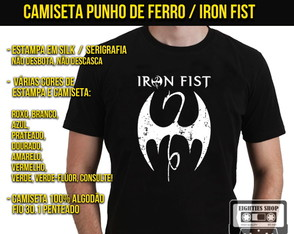 Camiseta Iron Fist Punho de Ferro Marvel
