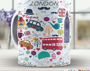 Caneca Londres - Porcelana 350ml - 1716