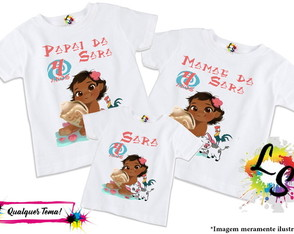 Kit Camisetas Moana