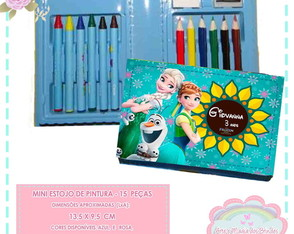 Mini Estojo Pintura Frozen Fever