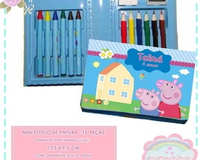 Mini Estojo Pintura Peppa Pig
