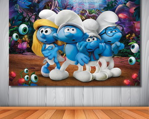 Painel Smurf - 1,50x1,00m