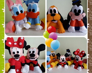 Centro de mesa Mickey/minnie