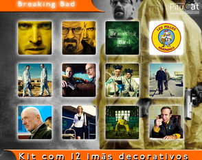 Breaking Bad 12 imãs decorativos 5x5 02