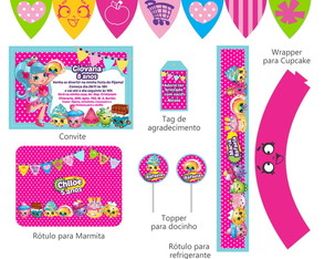 Kit Festa Digital Shopkins