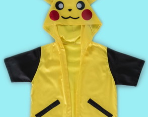 Capa do Pikachu, mascote Pokemon do Ash - QUIMERA KIDS