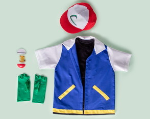 Look completo do Ash, treinador de Pokemon - QUIMERA KIDS