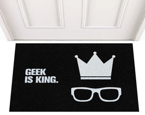 Tapete Capacho Divertido Geek is King