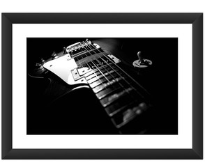 Quadro Guitarra Rock Jazz Blue Decoracao