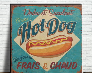 Azulejo Decorativo Retrô - Hot Dog