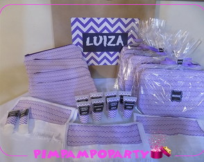 Kit spa party com necessaire e toalha