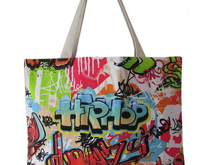 ecobag mídi estampa hip hop
