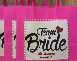 Kit Sacolas team bride luxo pérolas