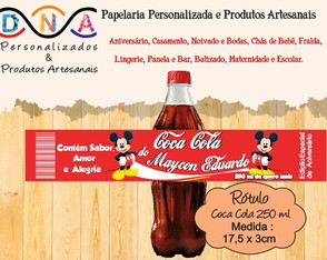 Rótulo Refrigerante Cola 250ml - Mickey