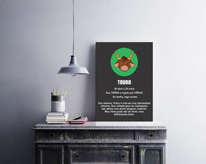 "Placa decorativa ""Signo Touro"""