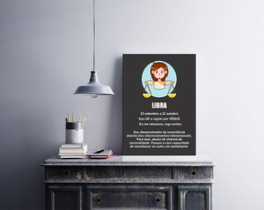 "Placa decorativa ""Signo Libra"""