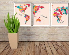 Kit quadro Travel the world 30x42