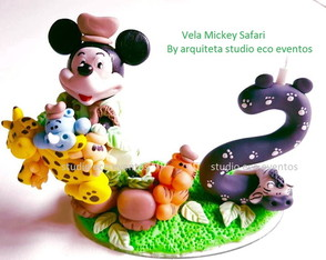 vela mickey safari - by arquiteta SEE