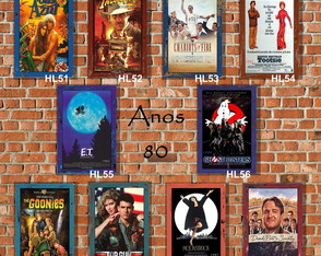 10 Quadros Decorativos Cinema Anos 80