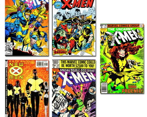 Ímãs X-men Marvel Comics Pack 10 und