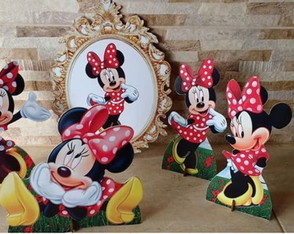 KIT MDF MINNIE VERMELHA / Mesa