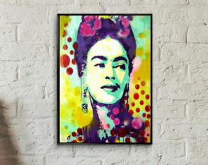 Quadro pop art Frida Kahlo