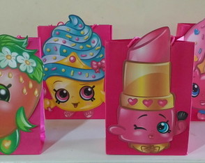 sacola de papel shopkins