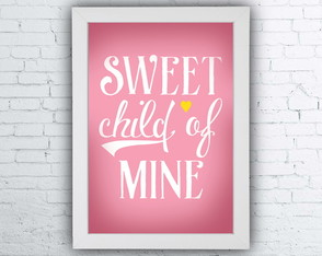 "Quadro ""Sweet child of mine"""