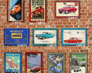10 Placas Quadros Decorativos Carros Antigos 01