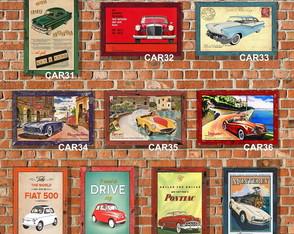 10 Quadros Decorativos Carros Antigos 03