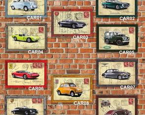 10 Quadros Decorativos Carros Antigos 04