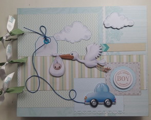 Álbum Scrapbook Gestante 100% Boy PRONTA ENTREGA