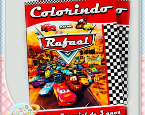Revista de colorir Carros Disney