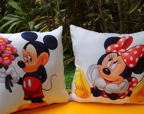 Almofadas Mickey e Minnie