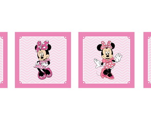 Kit de 4 Quadros Minnie Rosa 30x30cm