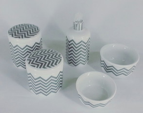 Kit higiene porcelana Chevron
